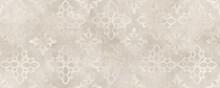 Cream Damask Seamless Pattern With Cement Texture Backgorund