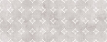 Gray Damask Seamless Pattern With Cement Texture Backgorund