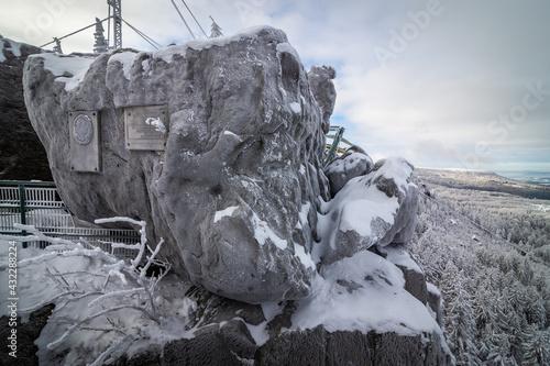 Szczeliniec Wielki w Górach Stołowych w Polsce