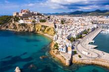 Aerial View Of Ibiza Town, Castell De Eivissa. Balearic Islands, Spain.