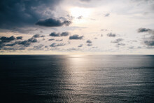 Beautiful Sunset Above The Sea, Sea Scape Background