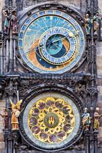The Prague Medieval Astronomical Clock (Prague Orloj), Czech Republic