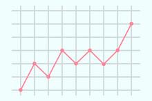 上昇の折れ線グラフ ベクターイラスト