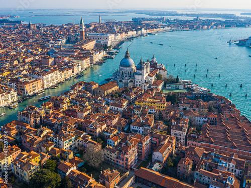 Obraz na plátně View of the Grand Canal, Basilica Santa Maria della Salute and San Marco Square,
