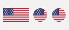 American Flag SVG Icon Set. USA Flag Icon. United States.