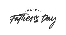 Vector Handwritten Type Lettering Composition Of Happy Father's Day.