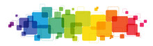 Rainbow Gradient Colorful Vector Background With Overlapping Semi-transparent Squares