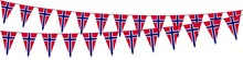 Garlands In The Colors Of Norway On A White Background