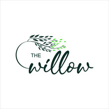 Corporate Willow Logo Nature Graphic Design Element For Business Or Industry Template Ideas