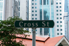 Sign Of Cross St, A Street Downtown Core Singapore