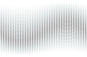 Abstract halftone dotted background. Futuristic grunge pattern, dot, wave. Modern optical pop art texture for posters, sites, business cards, cover, labels mock-up, vintage. - vector illustration