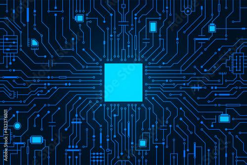 Circuit board background Fototapet