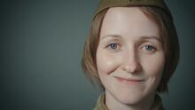Photo Woman Wearing Soviet Red Army Uniform