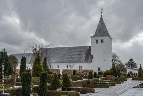 Obraz na plátně Church of Oksbol in Jutland Denmark