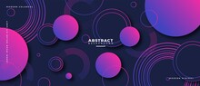 Abstract Geometric Shapes Composition Banner_32