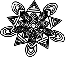 Celtic Ornament Vector Coloring Page
