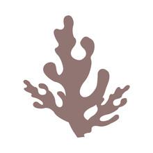 Decorative Underwater Plant. Abstract Aquarium, Ocean, Reef Flora. Seaweed. Coral. Algae. Vector Illustration Design For Pattern, Fabric, Textile, Print