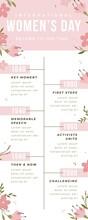 Floral Minimalist Womens Day Timeline
