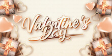 Valentines Day Text Rose Gold Color Style Editable Text Effect