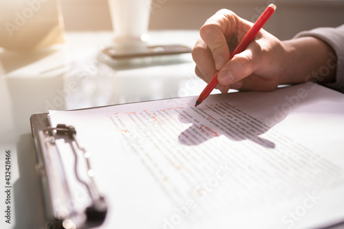 Obraz na plátně Script Grammar And Spelling Edit