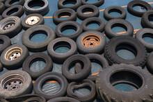 Alt Reifen Ausrangiert Umnutzung Abdecken