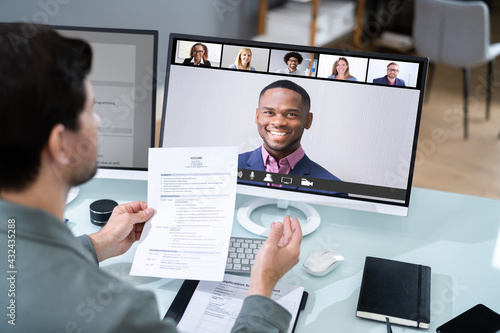 Virtual Job Interview Webcast - fototapety na wymiar