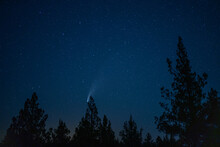 The Neowise Comet Streaks Across The Night Sky Over Bend, Oregon In July 2020
