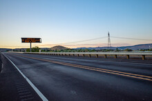 A Highway Sign Warns Of Covid-19 During The Pandemic