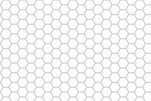 Seamless Pattern With Hexagons. Vector Hexagon Honeycomb Seamless Background Pattern. Hexagonal Cell Texture. Honeycomb On White Background. Speaker Grille.
