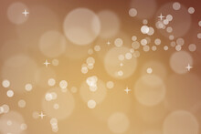 Abstract Orange Bokeh Background, Can Use For Celebration Or Festival.