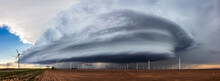 Panoramic View Of A Supercell Thunderstorm
