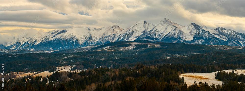 Obraz Tatra Mountains panorama fototapeta, plakat