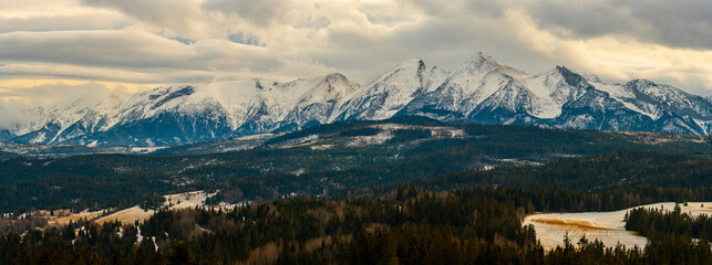 Tatra Mountains panorama