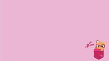 Cat Mom Cute Pink Wallpaper Illustration