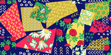 Seamless Pattern With Patchwork Design