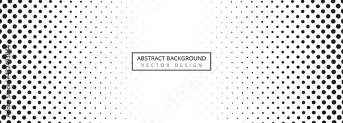 Canvas .Abstract black and white dotted banner background