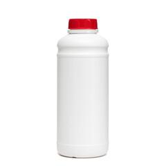 Pojemnik plastikowy na białym tle