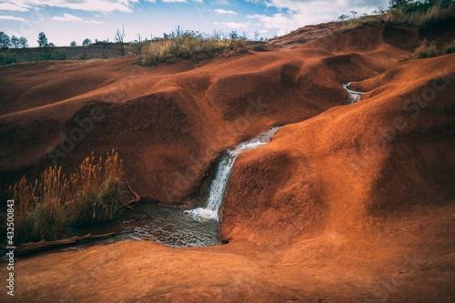 Fallen water moutains Earth beauty
