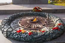 Flowers At The Monument Of Eternal Glory At The Tomb Of The Unknown Soldier. Inscription To The Unknown Soldier