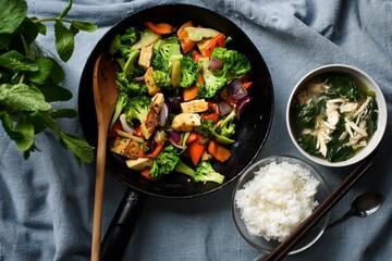 salad with meet