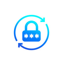 Password Reset Icon For Apps, Vector