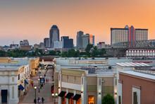 Shreveport, Louisiana, USA Downtown City Skyline