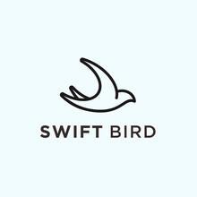 Abstract Swallow Bird Logo. Swift Bird Icon