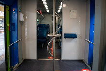 Empty Regional Train In The Period After The Covid-19 Pandemic In Italy