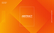 Stylish Abstract Illustration With Orange Line. Smart Design For Business Ads