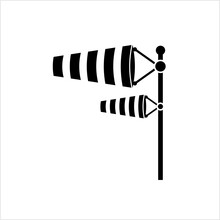 Wind Sock Icon, Windsock Icon, Wind Direction Indicator, Wind Flow Icon