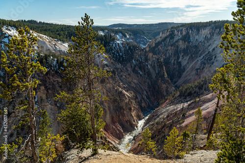Yellowstone National Park - Near and at the Grand Canyon of Yellowstone and Bisc Tapéta, Fotótapéta