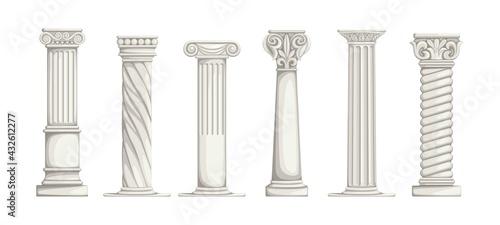 Fotografie, Tablou Roman pillars