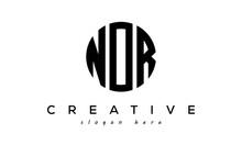Letters NOR Creative Circle Logo Design Vector