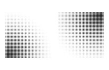 Rectangular Halftone Dots Backdrop For Comic And Cartoons. Gradient Effect Shading
